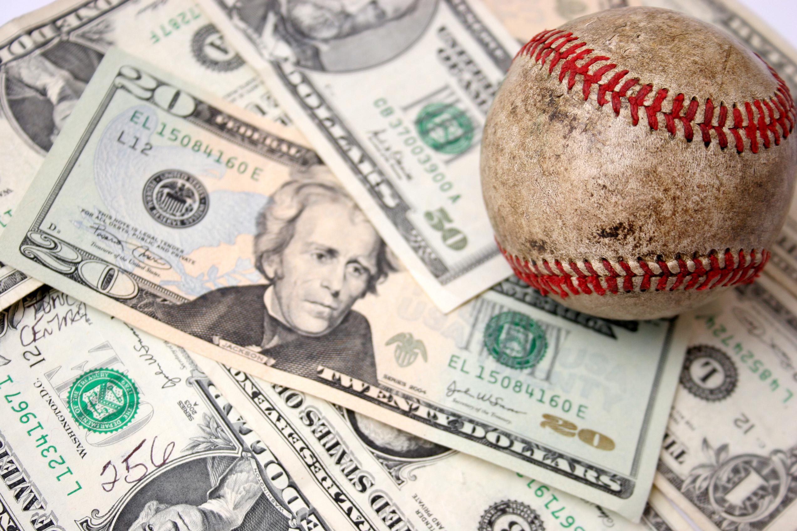 money under a baseball
